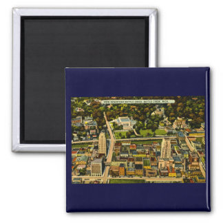 View Downtown Battle Creek, Michigan Vintage Refrigerator Magnet