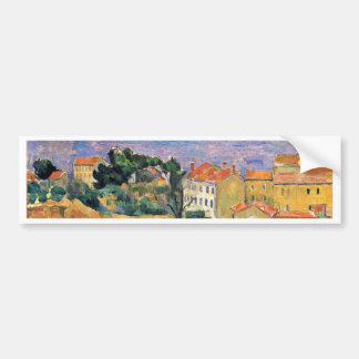 View Estaque (Area Near Marseille) By Paul Cézanne Car Bumper Sticker