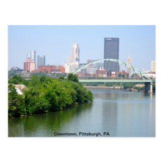 View from a bridge, Pittsburgh PA Postcards