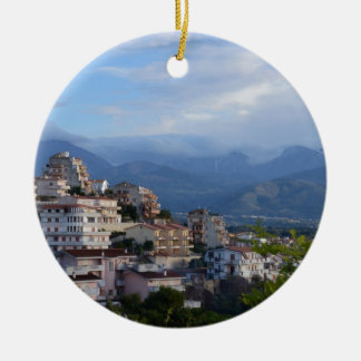 View From A Calabrian Hill Town Ceramic Ornament