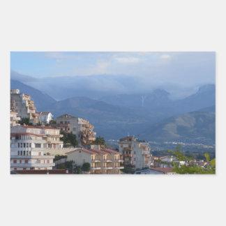 View From A Calabrian Hill Town Rectangular Sticker