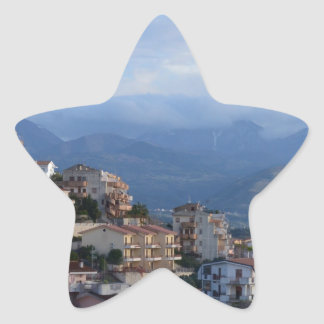 View From A Calabrian Hill Town Star Sticker