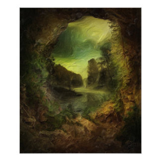 View from a cave print