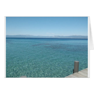 View from a Dock at Lake Tahoe Card