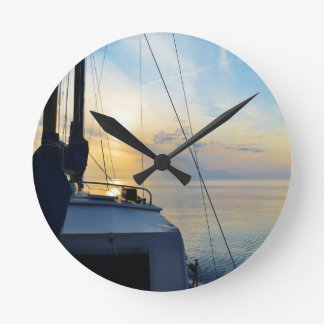 View from a ketch wall clock