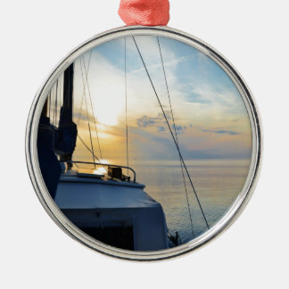 View from a ketch metal ornament