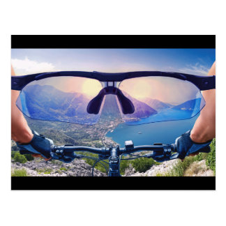 View From A Mountain Bike Postcard