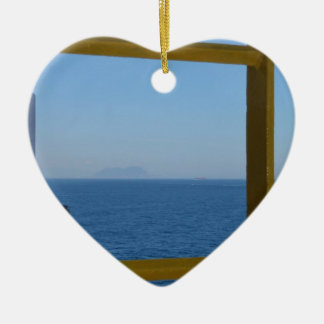 View From A Ship Ceramic Ornament