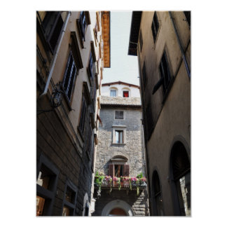 View from a street in Florence Poster