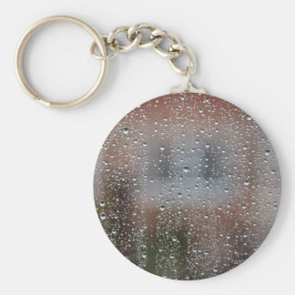 View From a Wet Window Basic Round Button Keychain