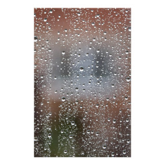 View From a Wet Window Stationery