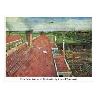 View From Above Of The Studio By Vincent Van Gogh Postcard