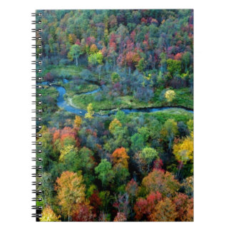 view from above spiral notebook
