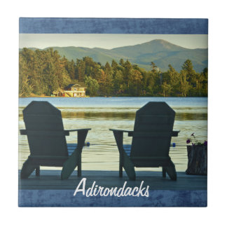 View from Adirondack Chairs in the Adirondacks, NY Ceramic Tile