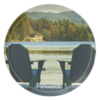 View from Adirondack Chairs in the Adirondacks, NY Dinner Plate