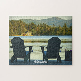 View from Adirondack Chairs in the Adirondacks, NY Jigsaw Puzzle