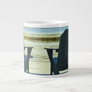 View from Adirondack Chairs in the Adirondacks, NY Large Coffee Mug