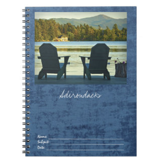 View from Adirondack Chairs in the Adirondacks, NY Notebook