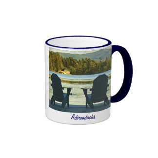 View from Adirondack Chairs in the Adirondacks, NY Ringer Coffee Mug