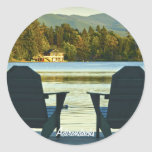 View from Adirondack Chairs in the Adirondacks, NY Stickers