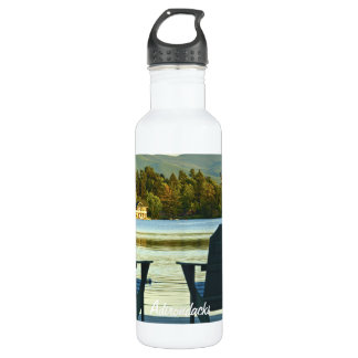 View from Adirondack Chairs in the Adirondacks, NY Water Bottle
