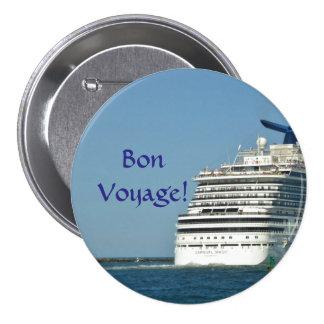 View from Astern Bon Voyage Pinback Button
