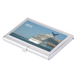 View from Astern Monogrammed Business Card Holder