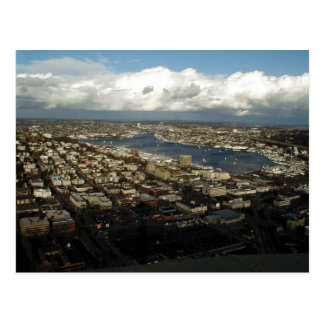 View From Atop The Space Needle In Seattle Postcard