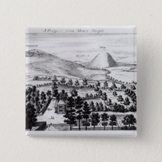 View from Avebury steeple of Silbury Hill Pinback Button
