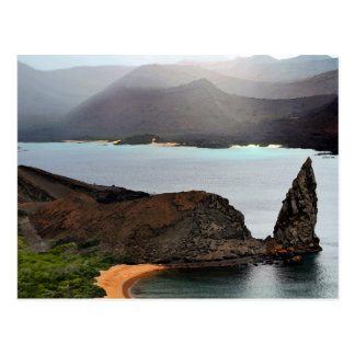 View From Bartolome Peak in The Galapagos Islands Postcard