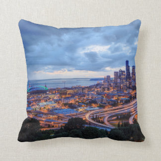 View from Beacon Hill, Pacific Med Center Throw Pillow