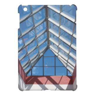 View from below the transparent roof of the glass case for the iPad mini