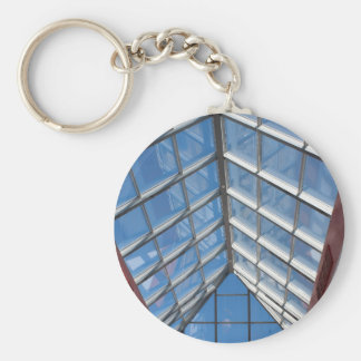 View from below the transparent roof of the glass keychain