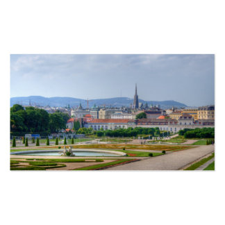 View From Belvedere Over Vienna Austria Business Card
