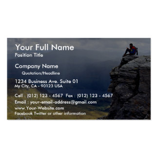 View from Ben Vorlich, Loch Lomond, Britain Europe Double-Sided Standard Business Cards (Pack Of 100)