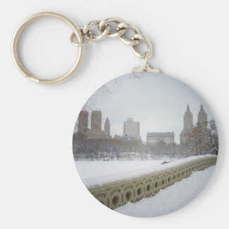 View From Bow Bridge, Central Park, New York City Keychain
