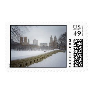 View From Bow Bridge, Central Park, New York City Postage Stamps