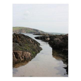 View from Burgh Island towards Devon coast Postcard