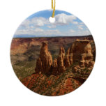 View from Canyon Rim Trail at Colorado Monument Ceramic Ornament