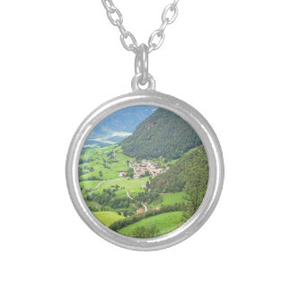 View from Castelrotto Silver Plated Necklace