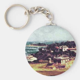 """View from Castillo de San Cristobal"" Keychain"