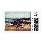 """View from Castillo de San Cristobal"" stamps"