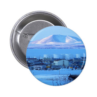 view from cemetary pinback button