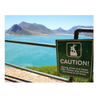 View from Chapman's Peak Drive in Cape Town Postcard