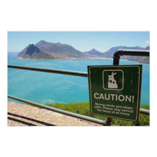 View from Chapman's Peak Drive in Cape Town Poster