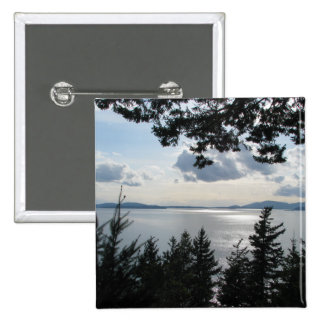 View From Chuckanut Drive Pinback Buttons