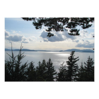 View From Chuckanut Drive Personalized Announcement