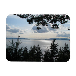View From Chuckanut Drive Rectangle Magnet