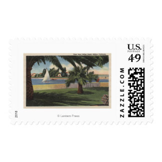 View from Collins Island, Sailboat on Water Postage