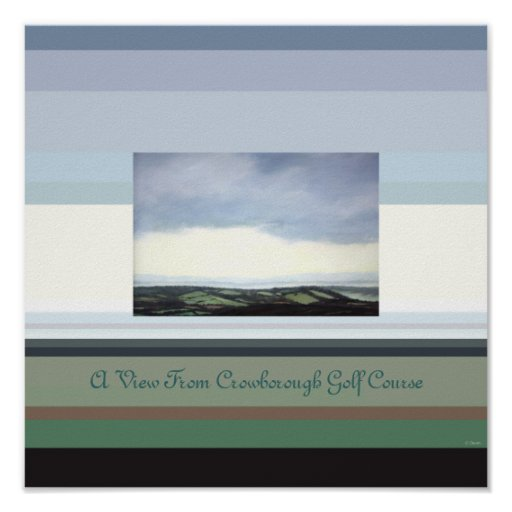 View From Crowborough Golf Course Print